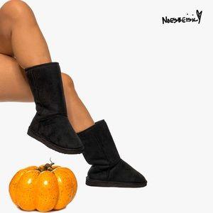 Classic Short Black Calf Boots NWOT